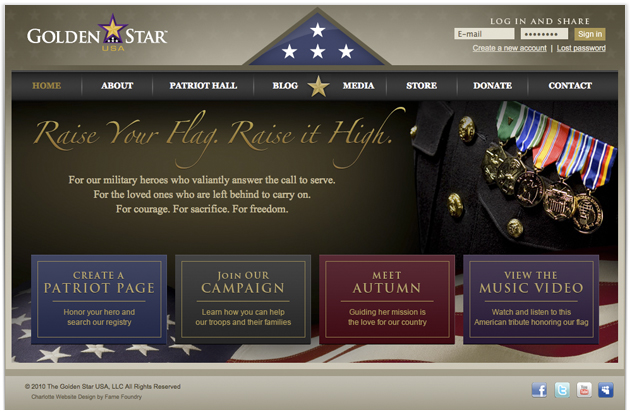 Golden Star USA Homepage