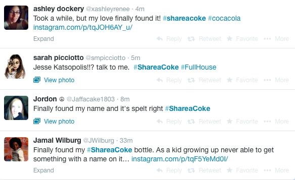 Coke-tweets